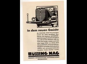 C2385/ Original Werbung Anzeige BÜSSING-NAG LKW ca.1935