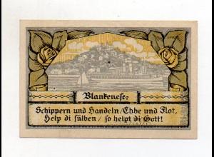 Y4741/ Notgeldschein Gemeine Blankenese Hamburg 1921