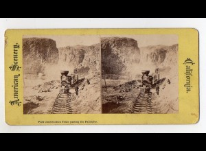 Y4804/ Construction Train passing the Palisades California USA Eisenbahn ca.1900
