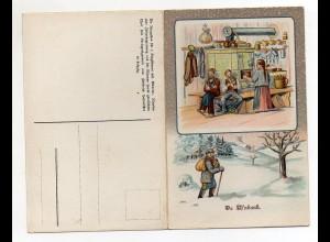 Y4798/ Da Of`nbank Lieder Klapp Litho AK Erzgebirge ca.1910 Verlag: Günther