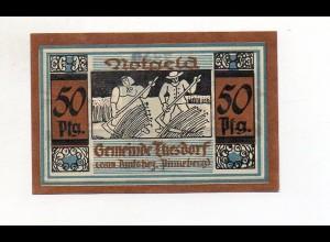 Y4776/ 1 x Notgeld Thesdorf Bez. Pinnenberg 50 Pfennig