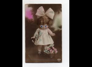 T4038/ Plastik Augen - Hübsche Puppe Foto AK a.1925