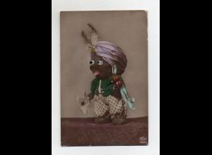 Y14282/ Farbige schwarze Puppe mit Kunstoffaugen Foto AK ca.1925