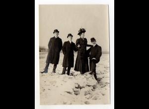 Y5302/ Hamburg Eis auf der Elbe Original Foto ca.1912 15 x 10,5 cm