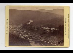 Y5305/ Kabinettfoto Schwarzburg vom Tripstein 1888 17 x 11 cm
