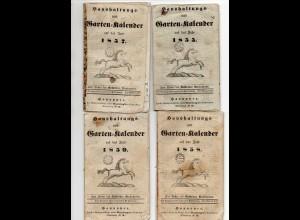 C4283/ 6 Haushaltungs- und Gartenkalender 1855-1861