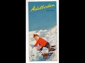 C3981/ Adelboden Schweiz Faltprospekt ca.1938
