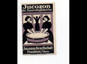 Y6073/ Reklamemarke Jucoszon Sauerstoffbleiche, Frankfurt Wäsche waschen