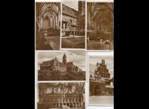 Y6153/ 6 x Foto AK Marienburg Westpreußen ca.1930