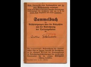 Y8406/ Sammelbuch der Bescheinigungen ü..d. Endzahlen, Versicherung, Schönebeck