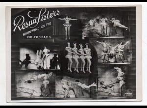 C4026/ Resua Sisters Rollschuh-Artisten Roller-Skates Photo Mahler Foto Variete