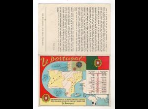 Y6554/ Le Portugal Klappkarte AK 1956