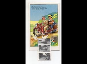 Y6521/ Uglei-See bei Eutin AK mit Leporello Motorrad ca.1958