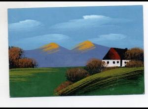 Y6514/ Handgemalte AK Landschaft ca.1920