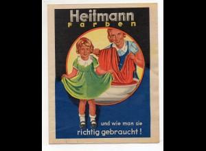 DP327/ Heitmann Farben Köln Reklame Werbe-Faltblatt Färben ca. 1930