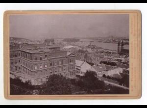 Y7035/ Kabinettfoto Budapest Fögymnasium Ungarn 1887