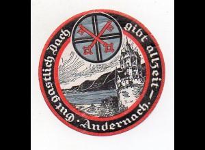 Y7169/ Reklamemarke Andernach Wappen ca.1920