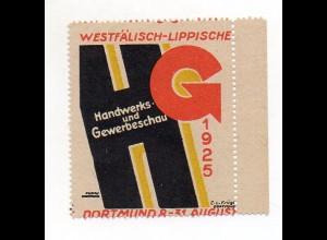 Y7212/ Reklamemarke Dortmund Westfäl.-Lippe Handwerks- u. Gewerbeschau 1925