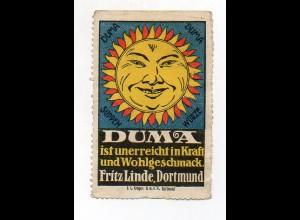 Y7217/ Reklamemarke Duma Suppen Würze Fritz Linde, Dortmund ca.1912
