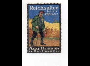 Y7215/ Reklamemarke Reichsalter Edelkorn, Aug. Krämer, Dortmund ca.1912
