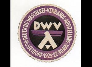 Y7186/ Reklamemarke Düsseldorf Dt. Wäscherei-Verbands-Ausstellung 1925