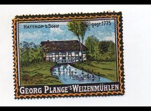Y7209/ Reklamemarke Weizenmühle, Georg Plange, Hattrop b. Soest ca.1912