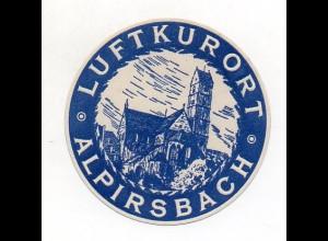 Y8790/ Reklamemarke Luftkurort Alpirsbach ca.1912