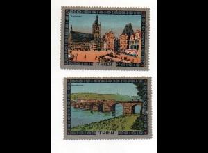 Y7241/ 2 x Reklamemarke Trier Litho ca.1912