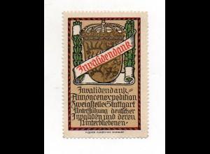 Y7246/ Reklamemarke Invalidendank Zweigstelle Stuttgart Litho ca.1915