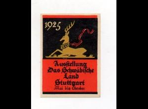 Y7248/ Reklamemarke Stuttgart Ausstellung Das Schwäbische Land 1925