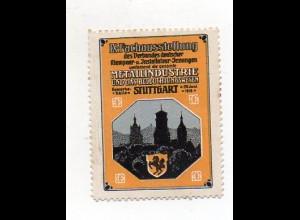 Y7256/ Reklamemarke Stuttgart Fach-Ausstellung Metallindustrie 1910