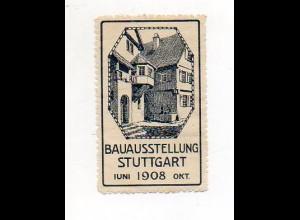 Y7275/ Reklamemarke Stuttgart Bau-Ausstellung 1908
