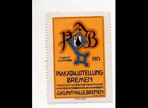 Y7258/ Reklamemarke Bremen Plakat-Ausstellung 1913