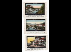 Y7263/ 3 x Reklamemarke Mostar Bosnien ca.1920