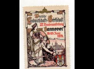 Y7316/ Reklamemarke Hannover Landwirtschaft 27. Wander-Ausstellung 1914 Litho