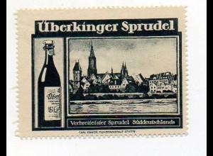 Y7327/ Reklamemarke Überkingen Überkinger Sprudel ca.1920