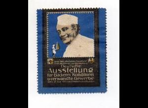 Y7330/ Reklamemarke Stuttgart Ausstellung für Bäckerei, Konditorei 1911 Litho
