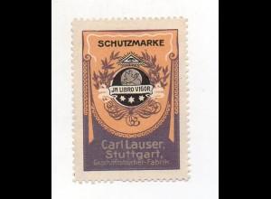 Y7331/ Reklamemarke Carl Lauser Geschäftsbücherei-Fabrik Stuttgart ca.1912