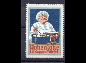 Y7376/ Reklamemarke Hohenlohe Suppen-Würfel Litho ca.1912