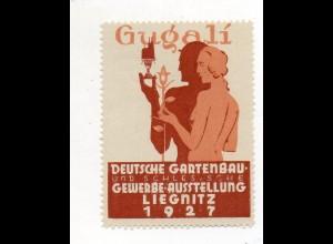 Y7504/ Reklamemarke Liegnitz Deutsche Gartenbau-Ausstellung 1927 Schlesien