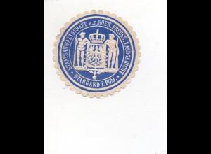 Y7773/ Siegelmarke Stargard Pommern - Staatsantwaltschaft ca.1910