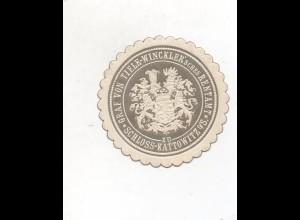 Y10809/ Siegelmarke Schloß Kattowitz Graf von Thiele-Winkle`schen Rentamt