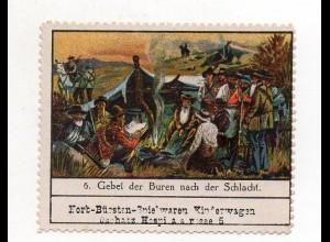 Y7756/ Reklamemarke Gebet der Buren nach der Schlacht ca.1910