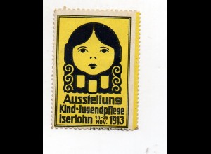 Y7512/ Reklamemarke Iserlohn Ausstellung Kind u. Jugendpflege 1913