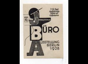 Y7515/ Reklamemarke Berlin Intern. Büro Ausstellung 1928
