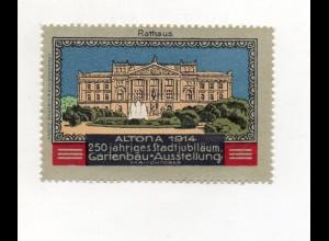 Y7519/ Reklamemarke Hamburg Altona Gartenbau-Ausstellung 1914
