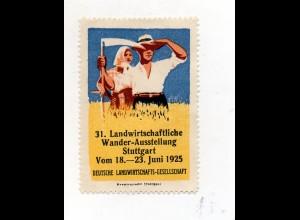 Y7521/ Reklamemarke Stuttgart 31. Landwirtschaft Wander-Ausstellung 1925