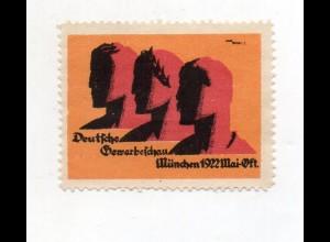 Y7522/ Reklamemarke München Deutsche Gewerbeschau 1922 Litho