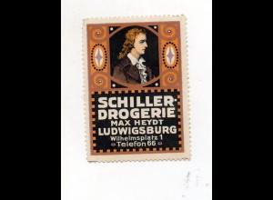 Y7763/ Reklamemarke Schiller Drogerie Max Heydt, Ludwigsburg ca.1912