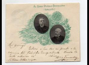 Y7526/ Brazil Brasilien - Al Gran Pueblo Brasileno - 1900 Brief Ganzsache